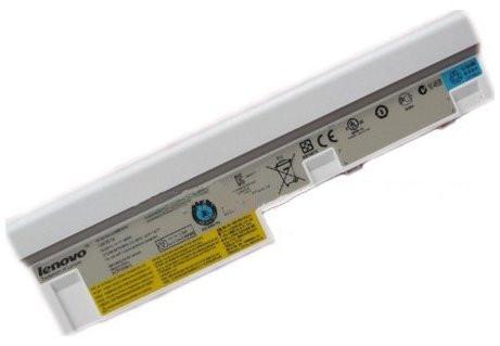 Аккумуляторная батарея Lenovo Ideapad S10-3, S10-3c S205, U160, U165 серий. (10,8v 5200mah). Цвет Белый