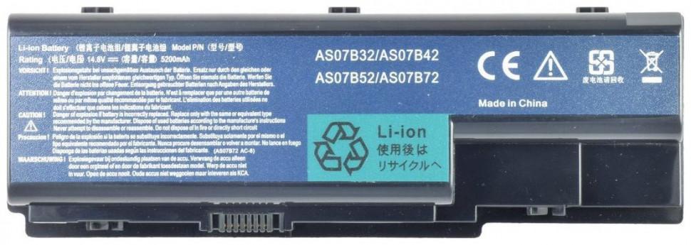 Батарея ACER для ноутбука Aspire 5310 5315 5520 5710 5715 5720 5910 5920 серий (14.8v 5200mAh) AS07B31, AS07B41, AS07B51, AS07B61,