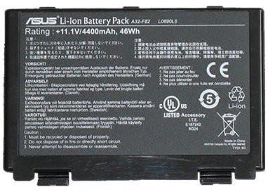 Аккумуляторная батарея Asus K40 K40E K50 K51 K60 K61 K70 F52 F82 X5 X87 series 11.1v 4400mAh PN A32-F82, A32-F52