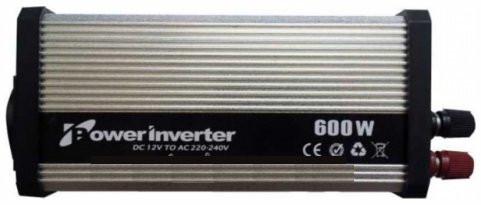 Преобразователь (инвертор) 12 Вольт(авто) –> 220 Вольт 600 Ватт.Для ноутбука и электронной техники.