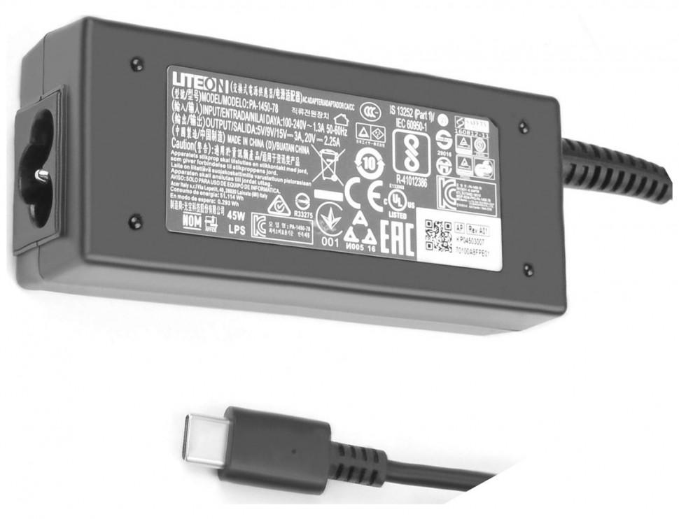 Блок питания для ноутбуков Lenovo ThinkPad Yoga 370 20V-2.25A /12V-3A/ 5V-2A, До 3a Max, Type-C