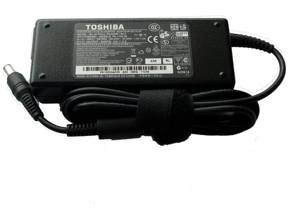 Блок питания Toshiba (для ноутбуков) 15v-5a (разъём 6.0х3.0мм) 75w