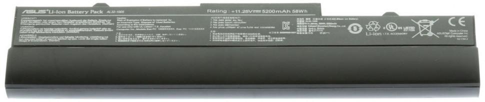 Аккумуляторная батарея AL31-1005 для ноутбука ASUS eeePC 1001PX 1001HA 1005HA 1005HAG 1005HE 1005HR 1005PEB 1101HA серий (10.8V 4400mAh)