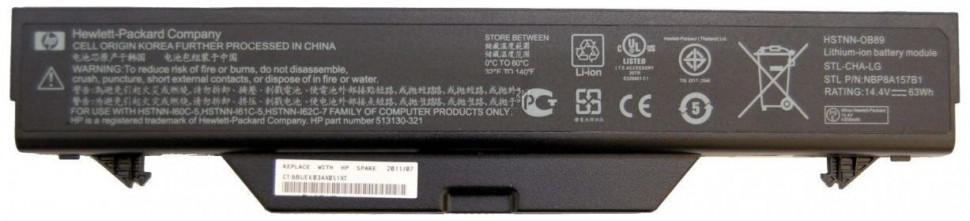 Аккумуляторная батарея для ноутбука HP ProBook 4510s, 4515s, 4710s, 4720s серии (10.8 v 5200mAh)